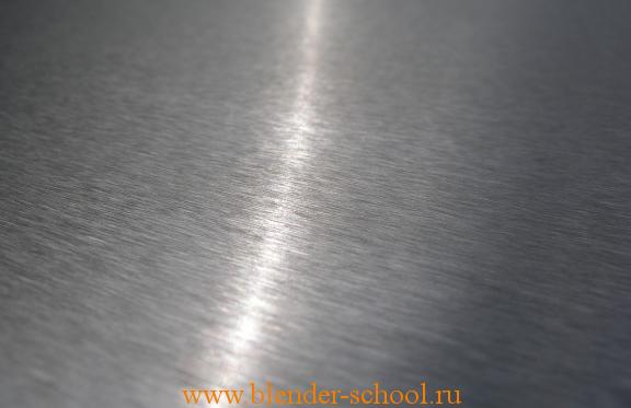 Шлифованный метал. Пример из реального мира - линейная анизотропия. Фото: Guido Muermann